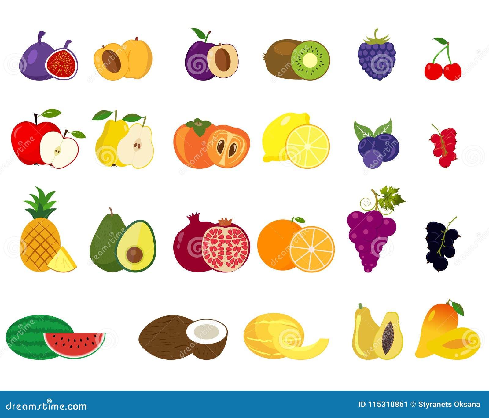 Wandbild Different Types of Fruits von Corbis in Gelb 17 Stories Format:  Leinwand umschließt Rahmen, Größe: 40 cm H x 37 cm B x 3,8 cm T   Types of  fruit, Fruit art, Fine art paper