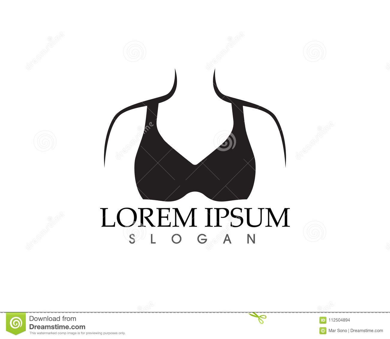 106eeb73605b8 Set Of Different Push Up Bras Isolated Over Stock Vector ...