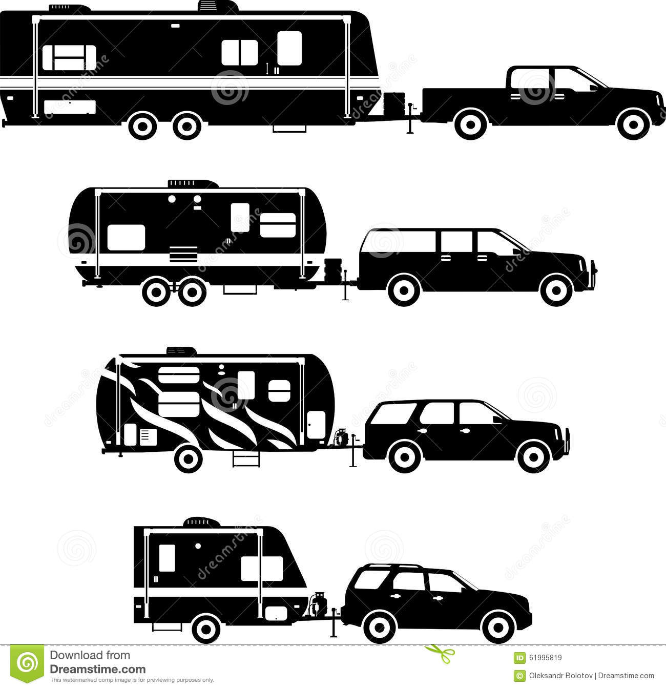 Popular Motor Home Silhouette  ClipArt ETC