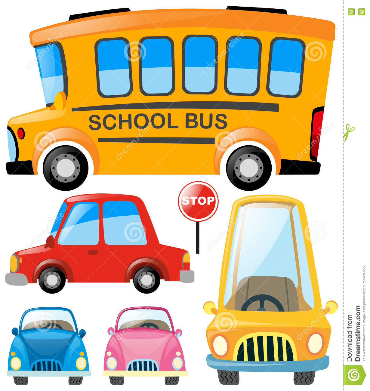 Set Of Different Types Of Transportation Stock Illustration ...