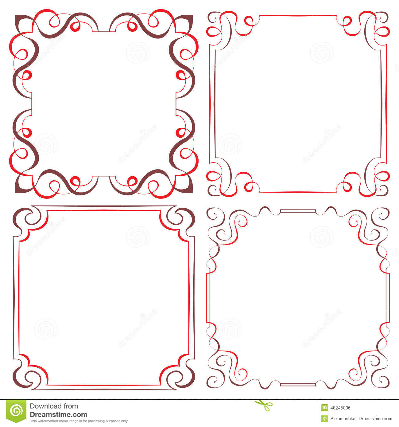 Set Of Different Vector Decorative Frames Stock Vector ...