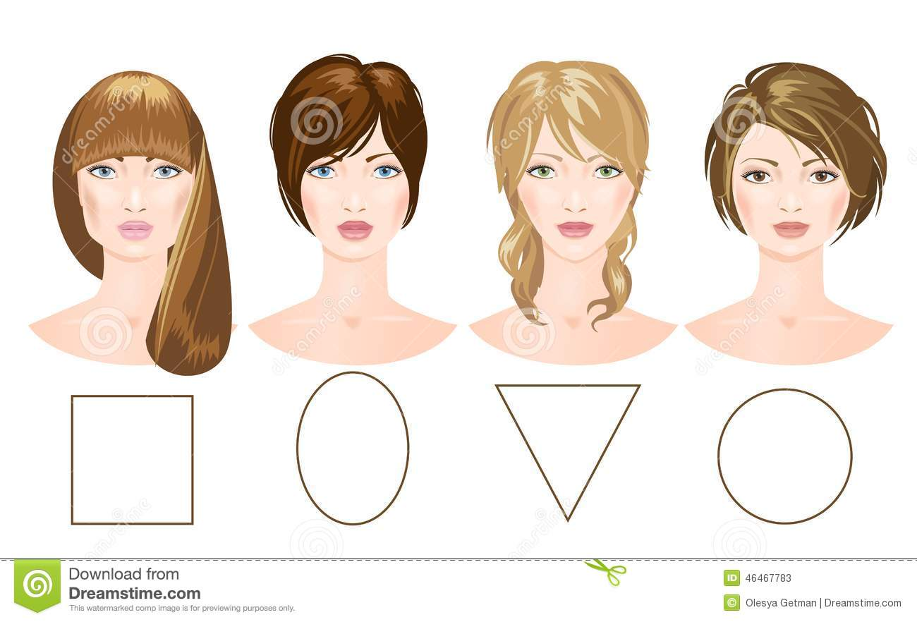 set of different woman 39 s faces stock illustration image. Black Bedroom Furniture Sets. Home Design Ideas