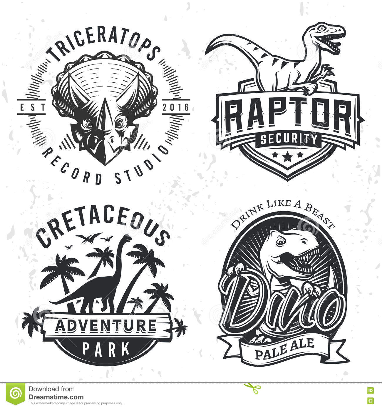 Design t shirt label - Design Dino Illustration Jurassic Label