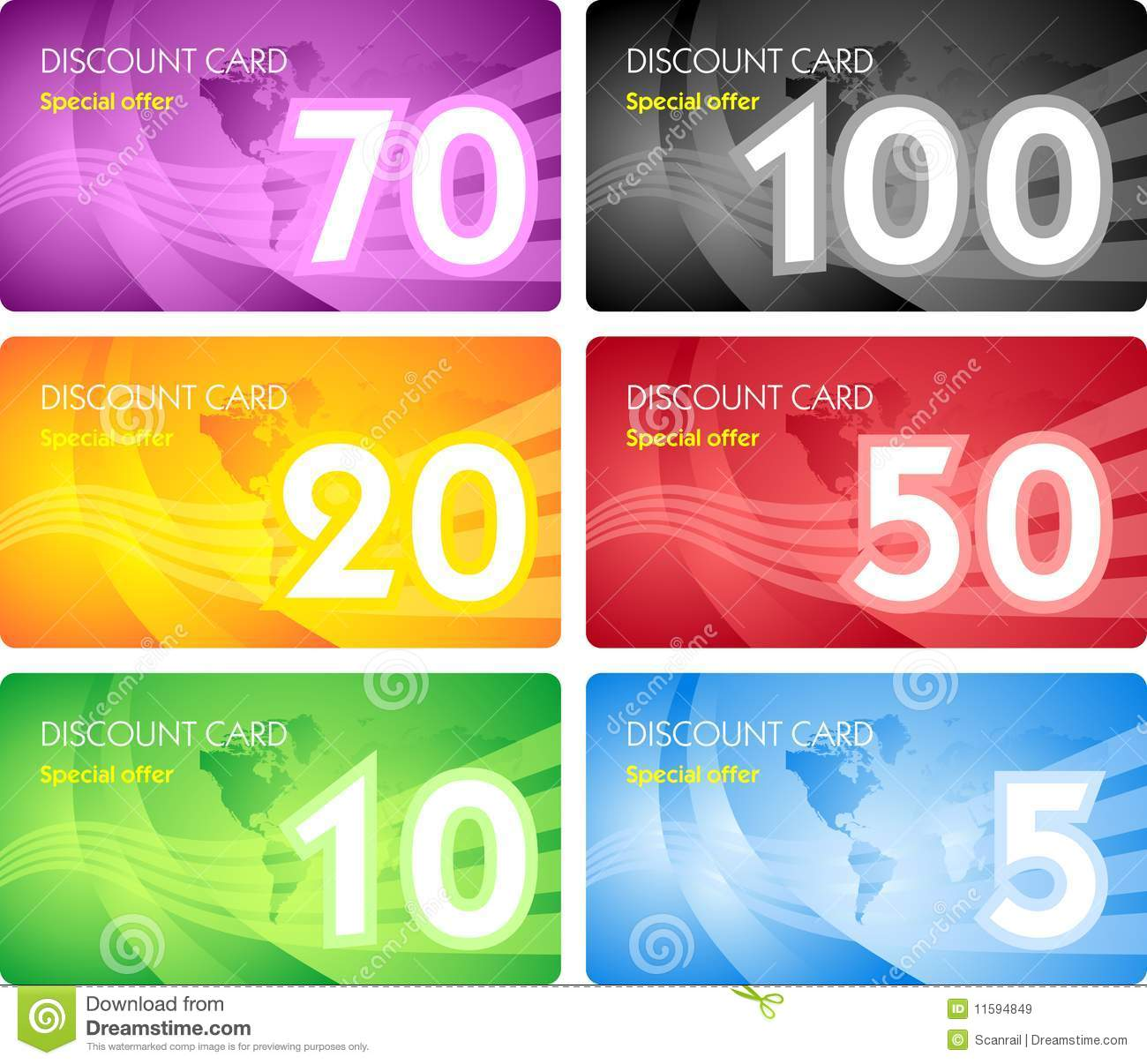 Set Of Discount Card Templates Royalty Free Stock Images ...