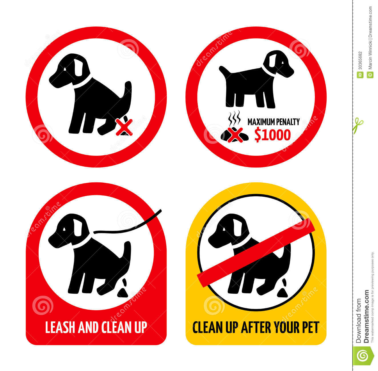 No Dog Poop Stock Photography - Image: 30365682