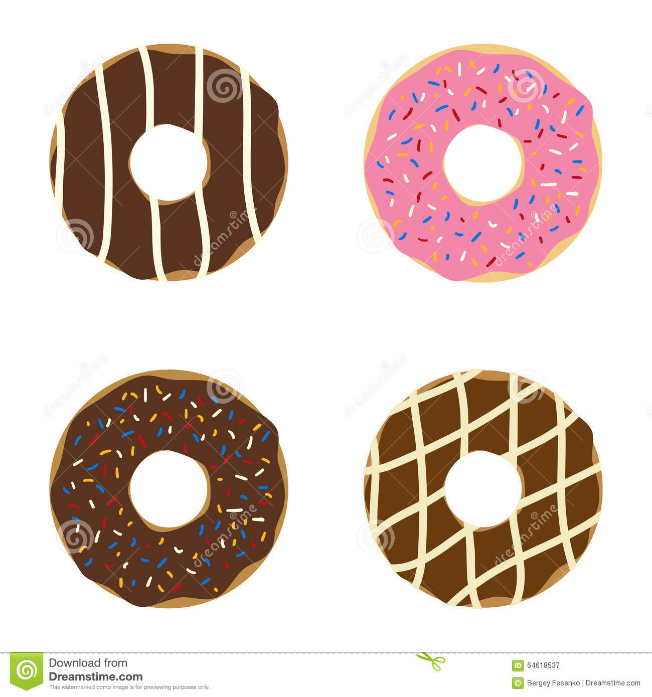Set of donuts.