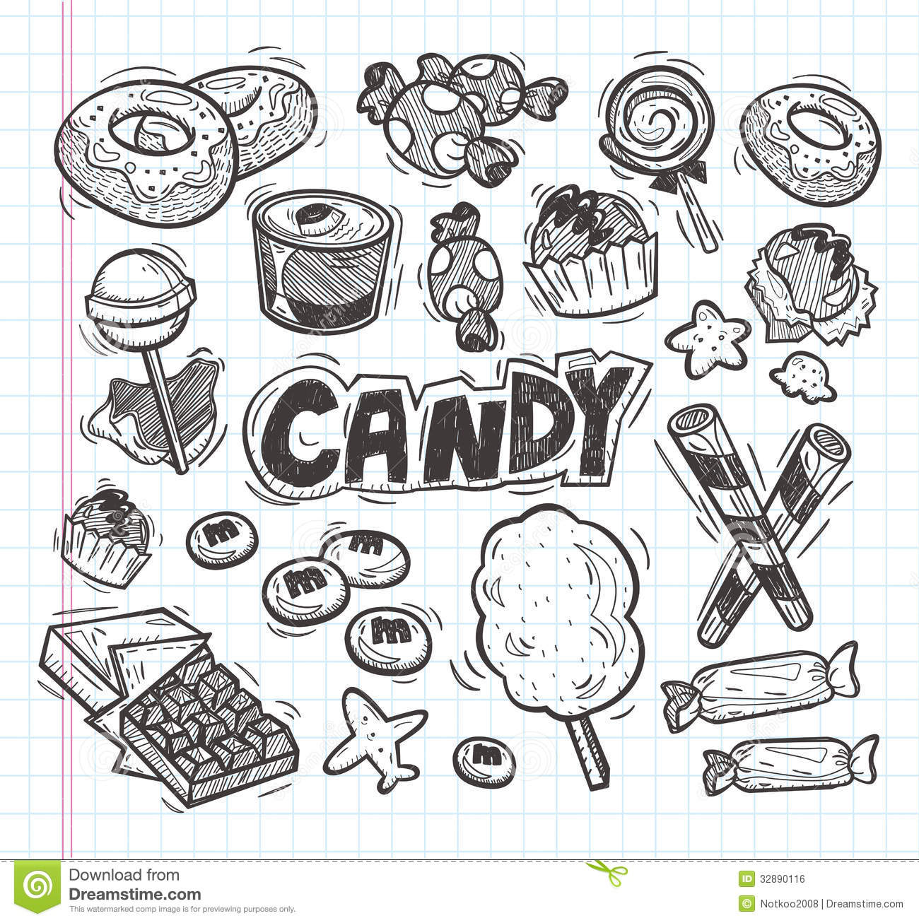 Set Of Doodle Candy Icons Royalty Free Stock Image Image
