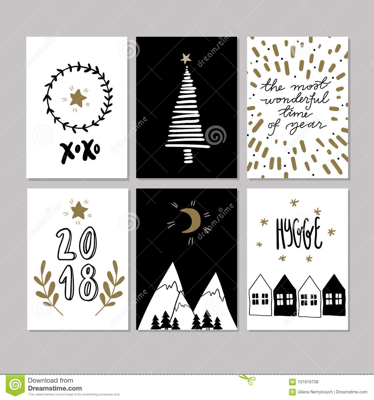 Set of doodle christmas greeting card vector hand drawn cute icons download set of doodle christmas greeting card vector hand drawn cute icons scandinavian style m4hsunfo