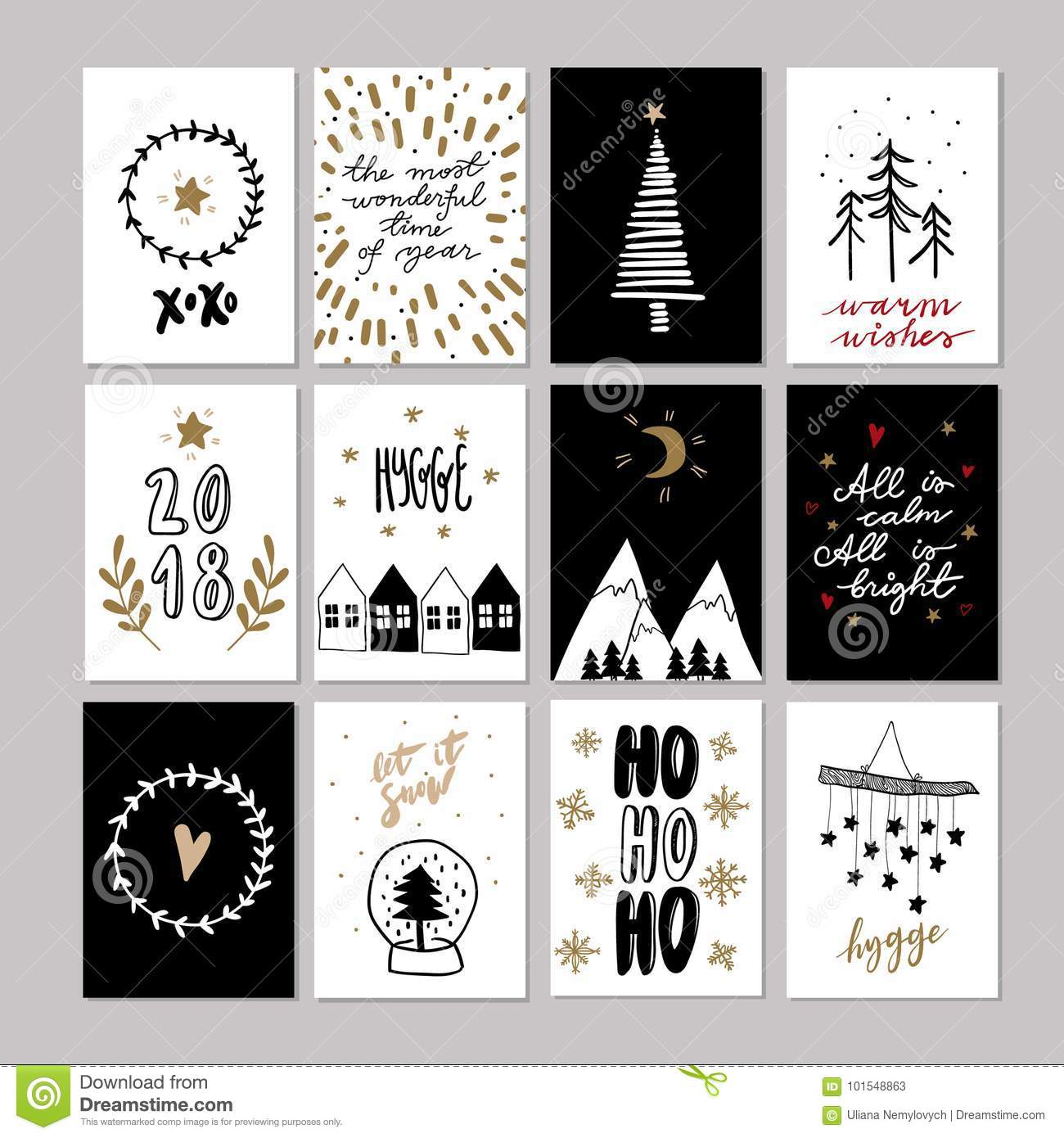 Set of doodle christmas greeting cards vector hand drawn cute icon download set of doodle christmas greeting cards vector hand drawn cute icon scandinavian style m4hsunfo