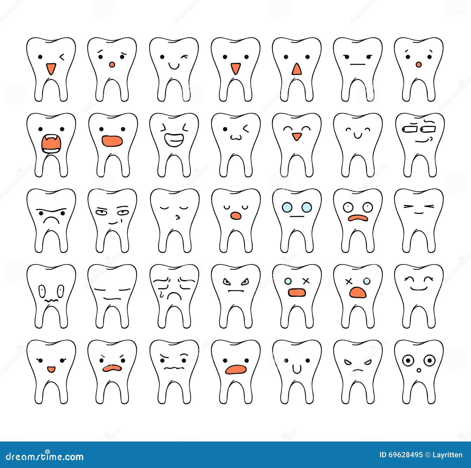 Set 35 Doodle Emotions . Sketch Emotions. Doodle Emotion Stock Vector - Image 69628495