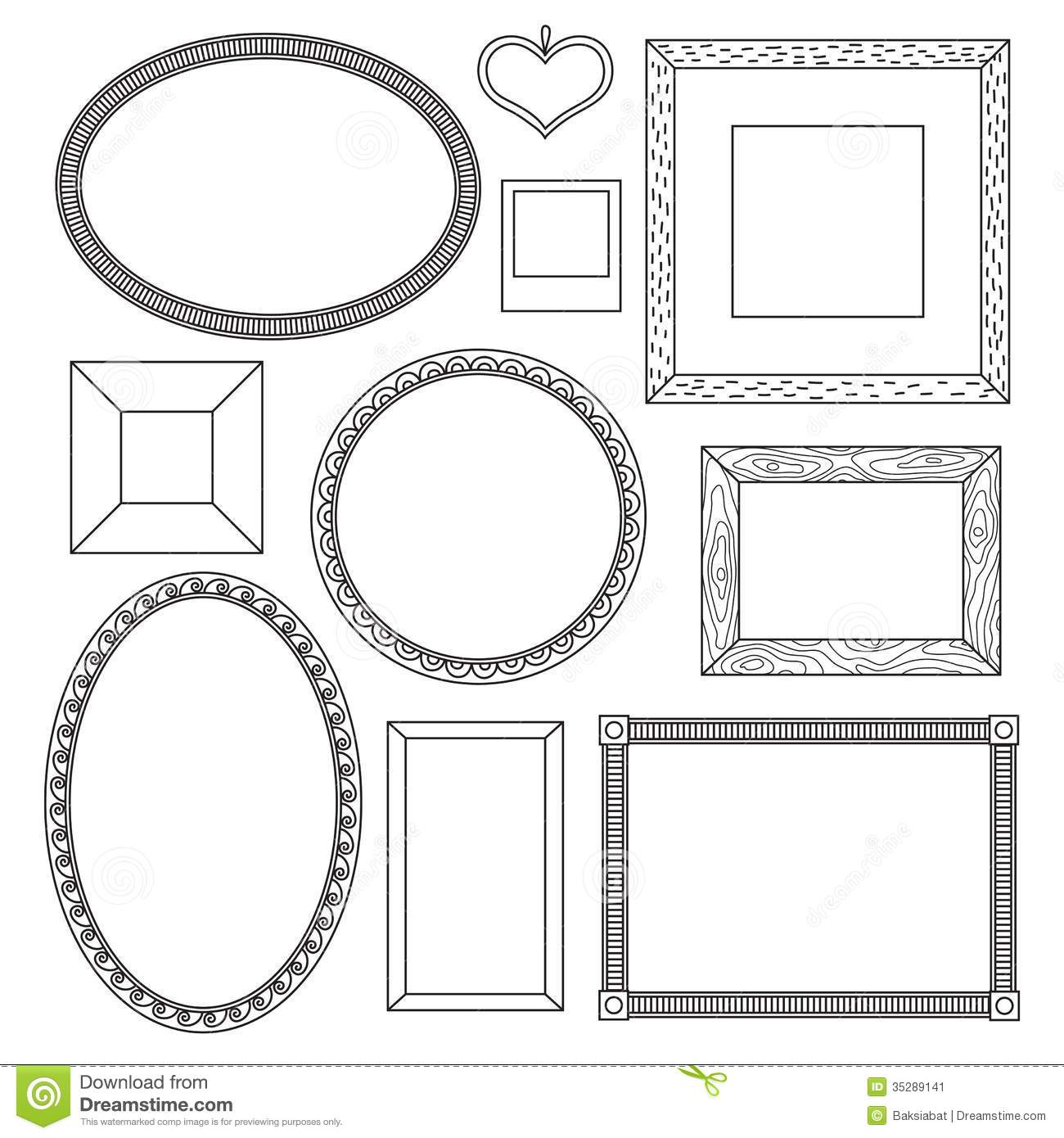 Set Of Doodle Frames Stock Vector Image Banner Paper