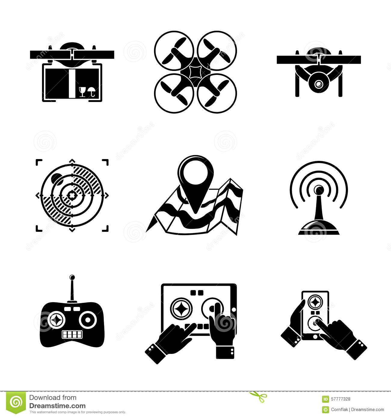 set of drone icons