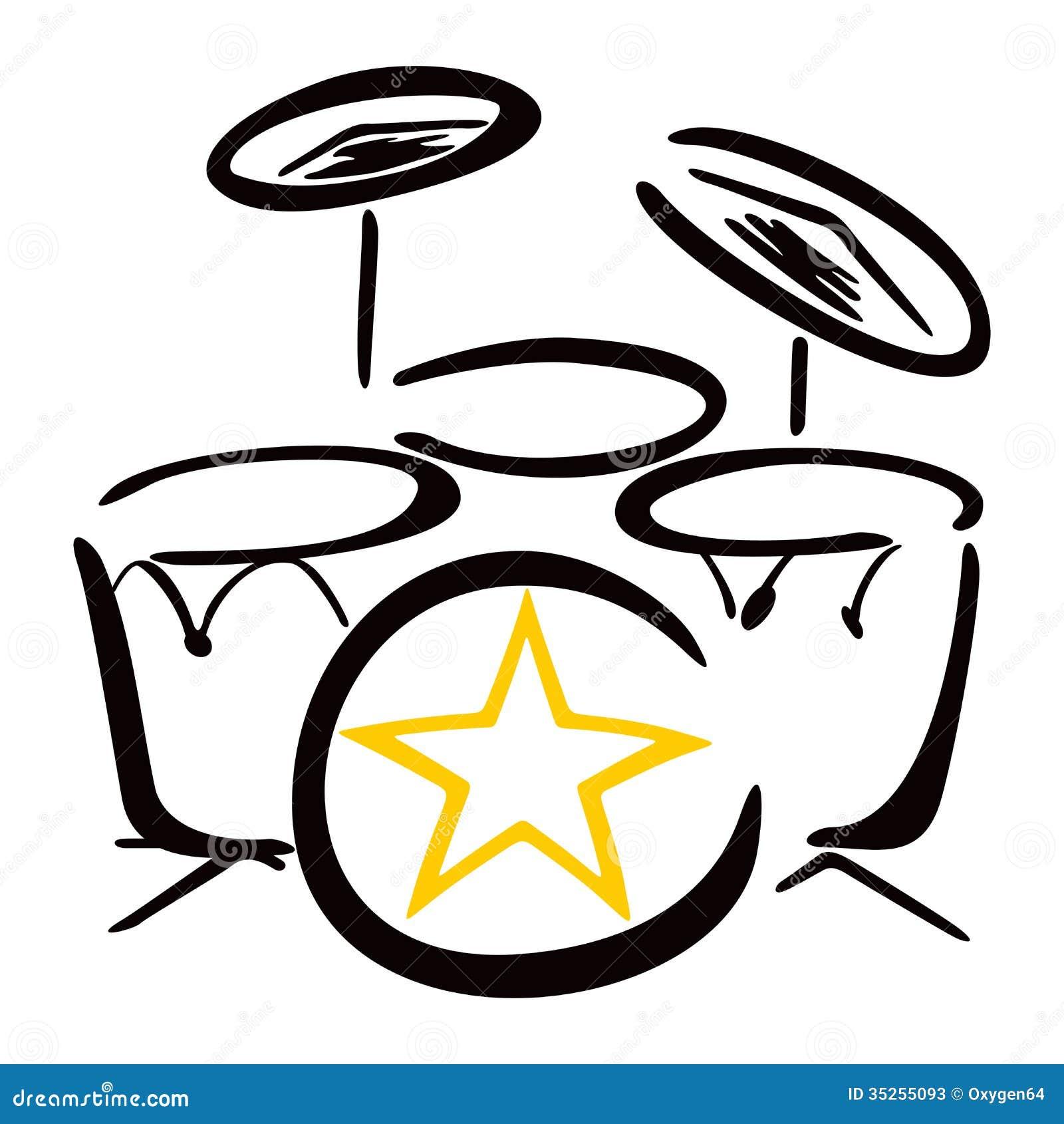 Set For Drummer Stock Vector Illustration Of Illustration 35255093