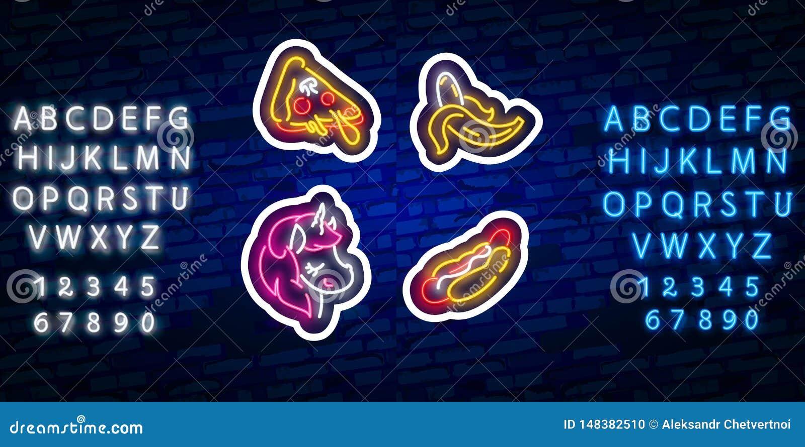 Set dziewczyny mody śliczne neonowe łaty Wystrzał sztuki majchery Wystrzał sztuka łata, szpilki i odznaki, Neonowy znak, emblemat