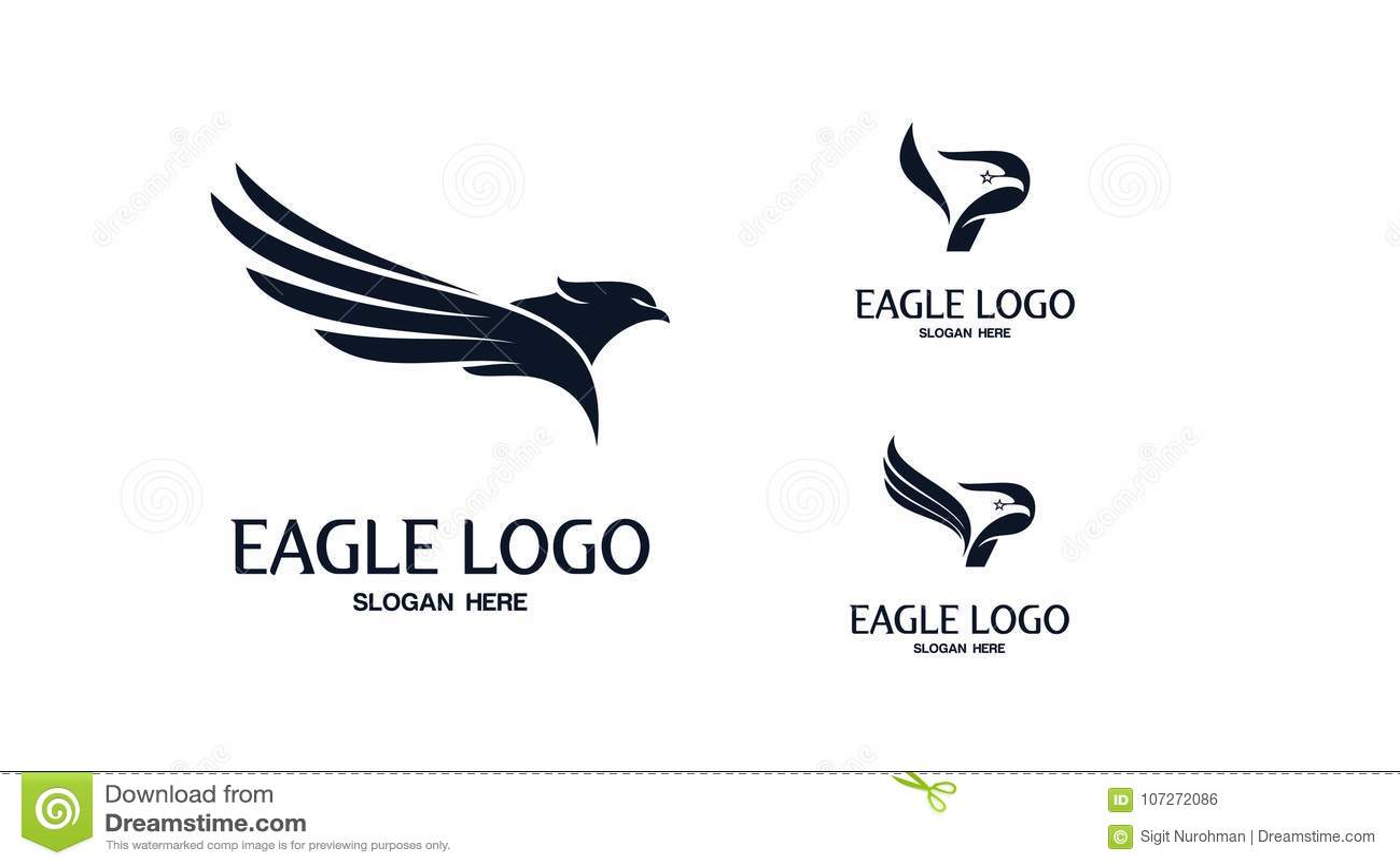 set of eagle logo vector stock illustration illustration of
