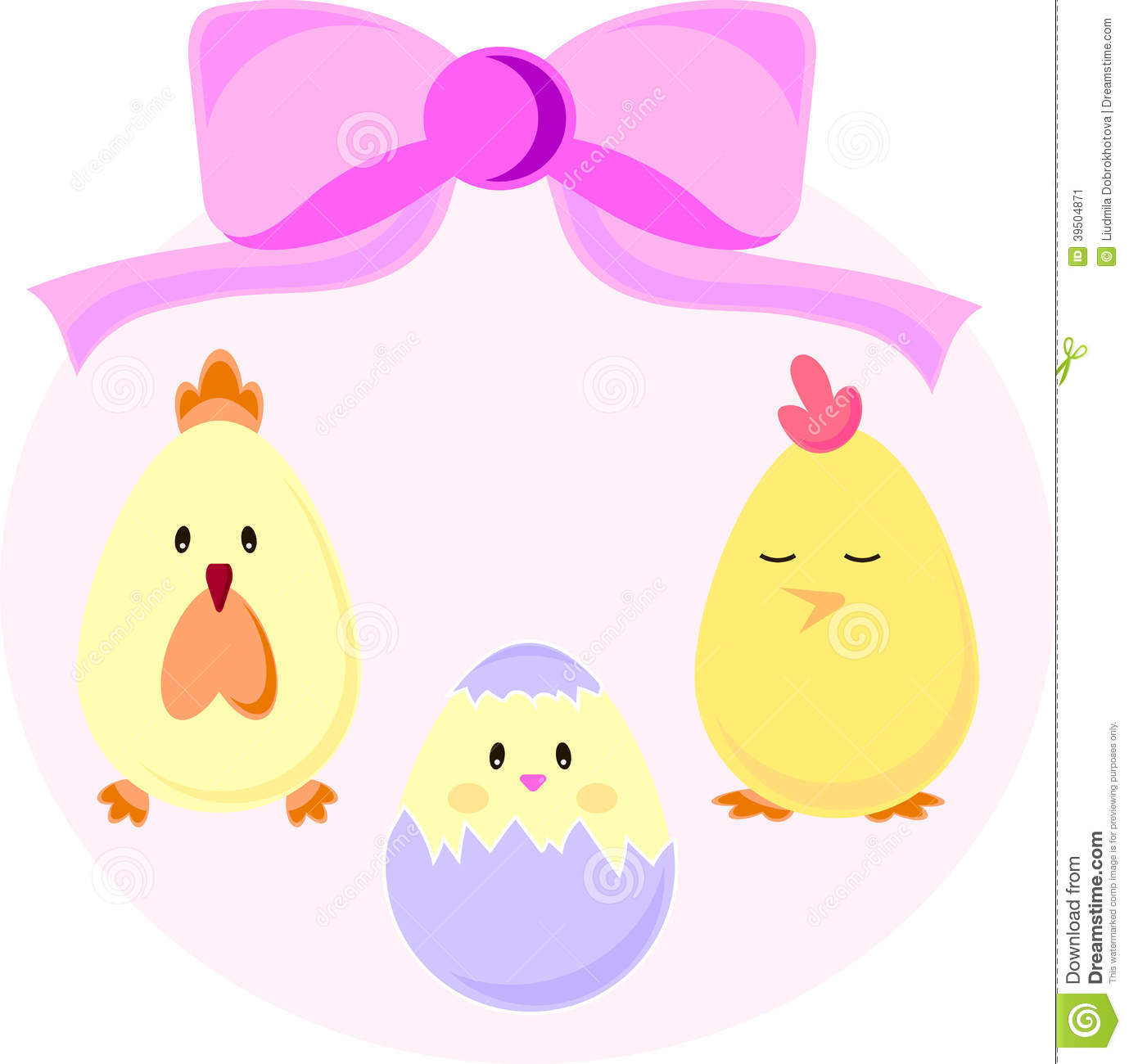Set of Easter chicks