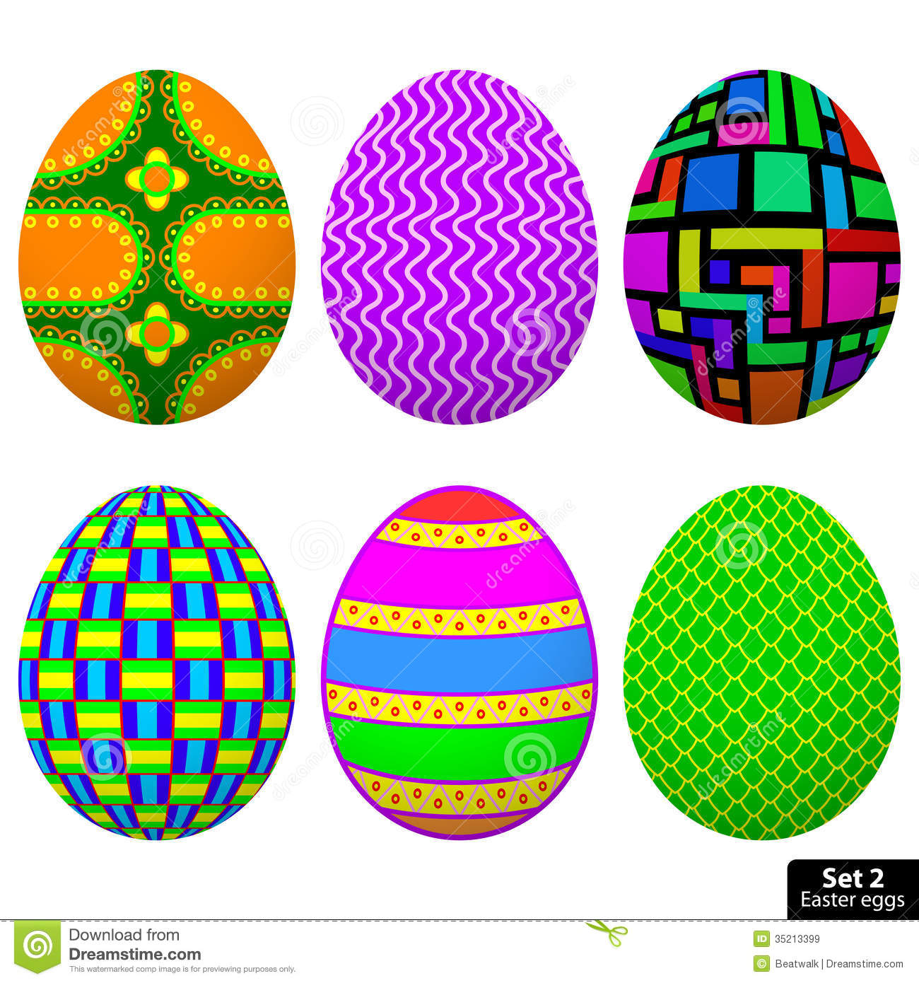 Set Easter Egg Stock Vector Image Of Circles Artistic