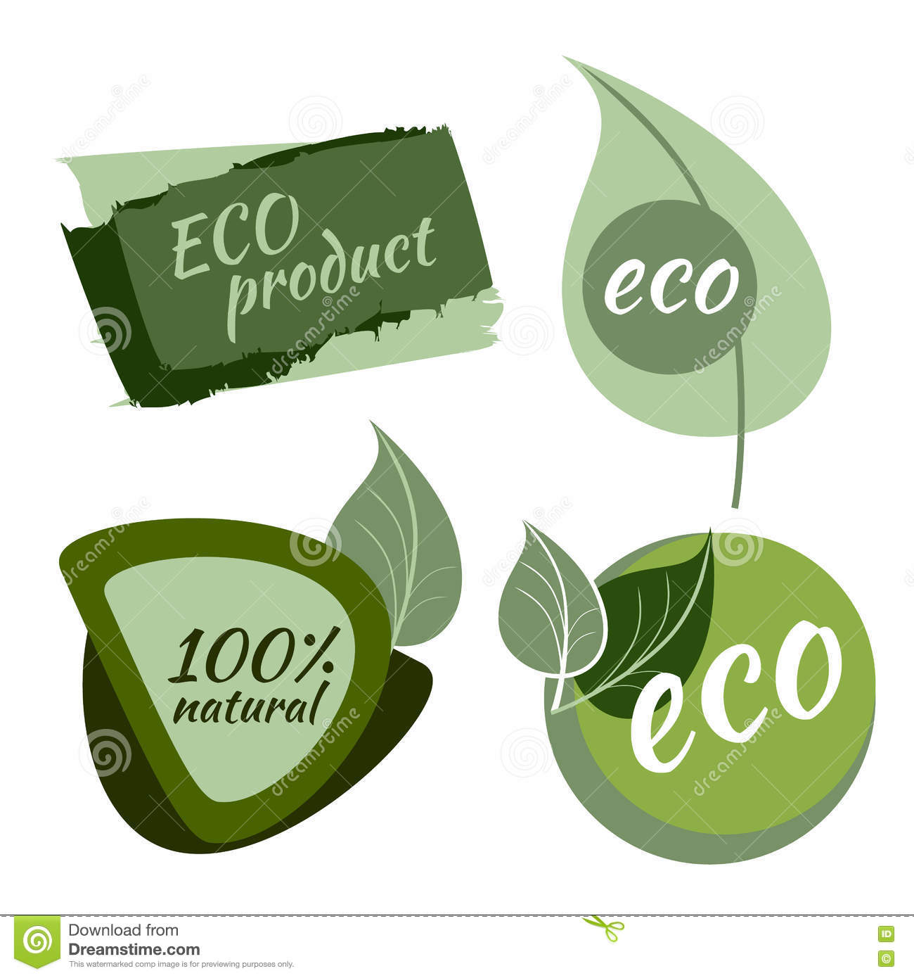 Set of eco labels stock vector. Illustration of promotion - 78191904