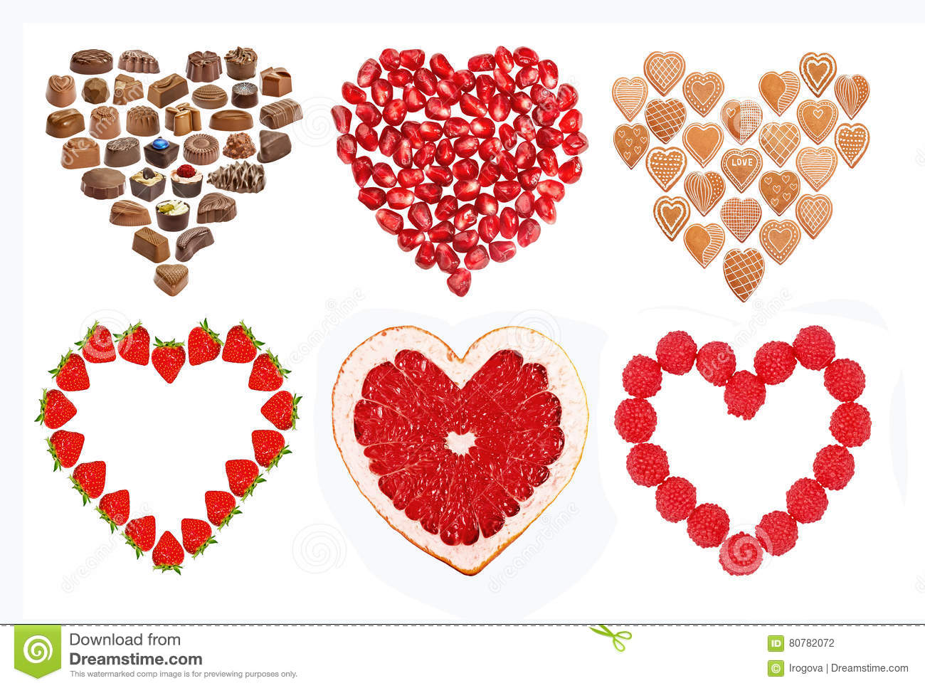Set Of Edible Hearts Stock Photo Image Of Brown Cookies