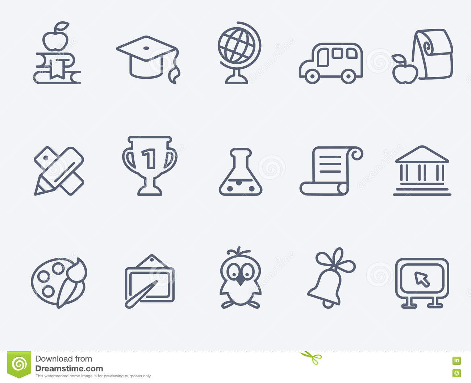 Set 15 edukacj ikon