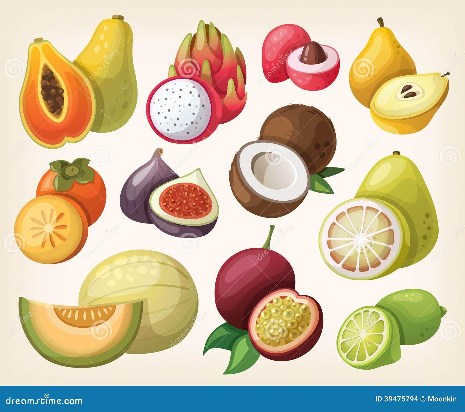 Set egzotyczna owoc