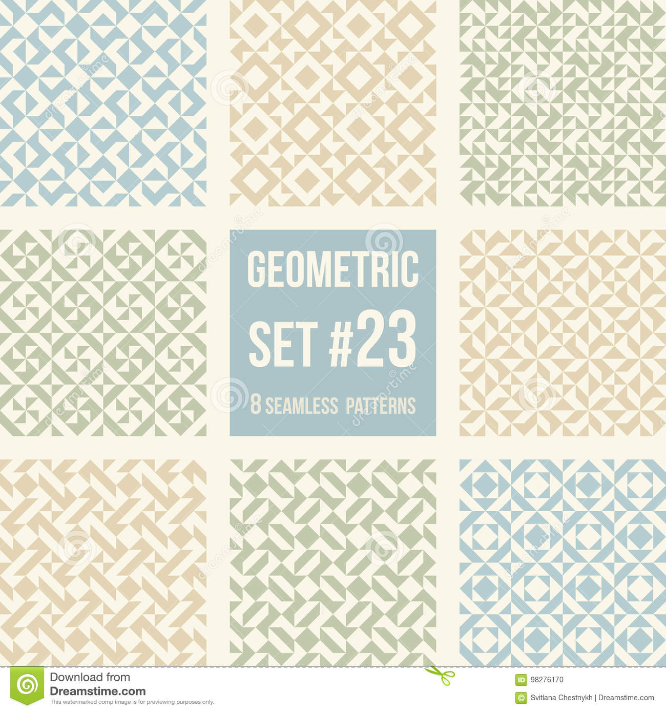 Set Of Eight Geometric Patterns Stock Vector - Illustration of block ...