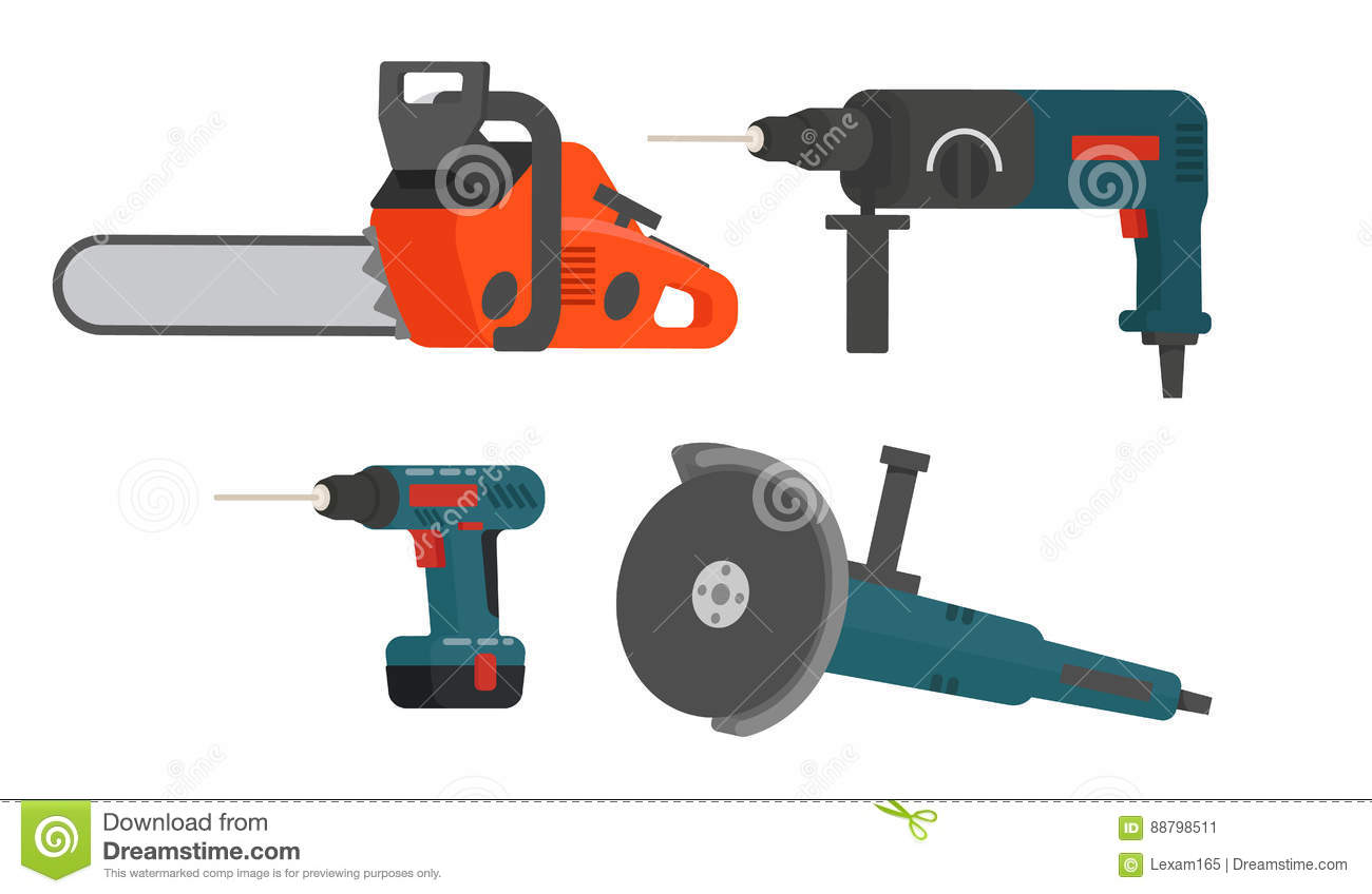 Set Of Electrical Tools For Repair And Construction