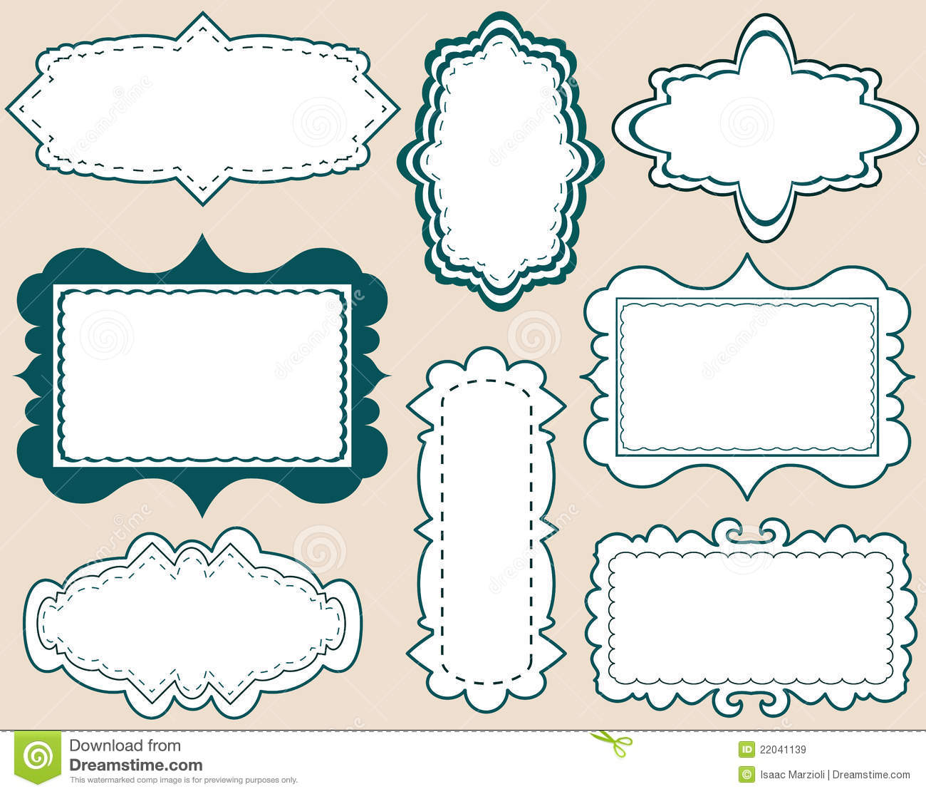 set of elegant labels stock vector illustration of sign 22041139