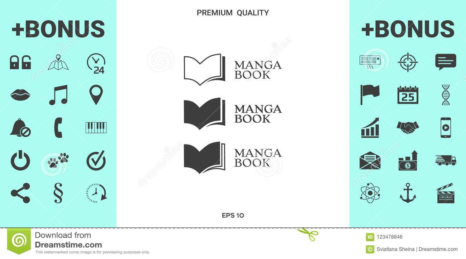 Set Of Elegant Logo With Book Symbol Stock Vector Illustration Of