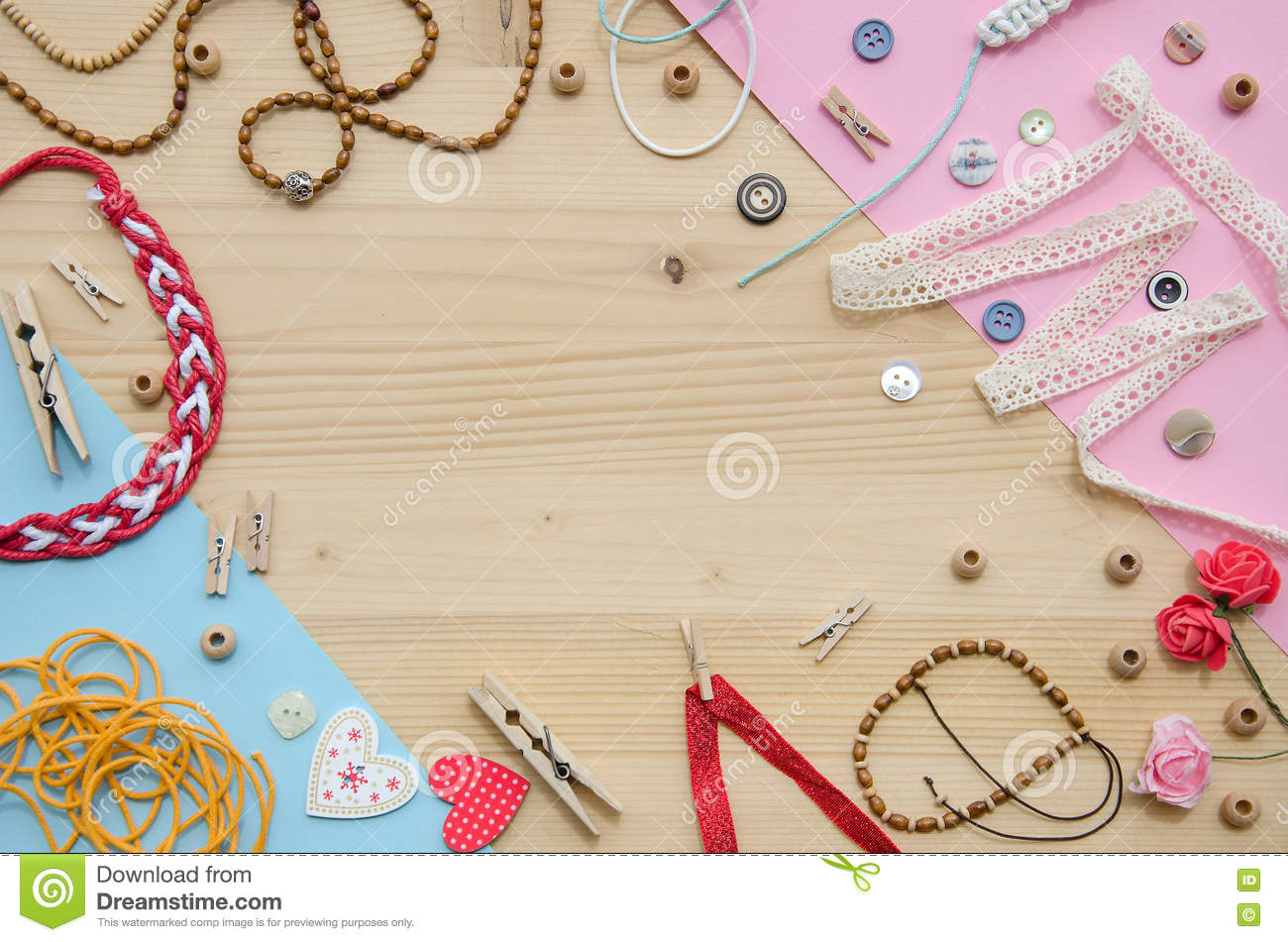 Set of elements for handicraft and decorative items for for How to make decorative items