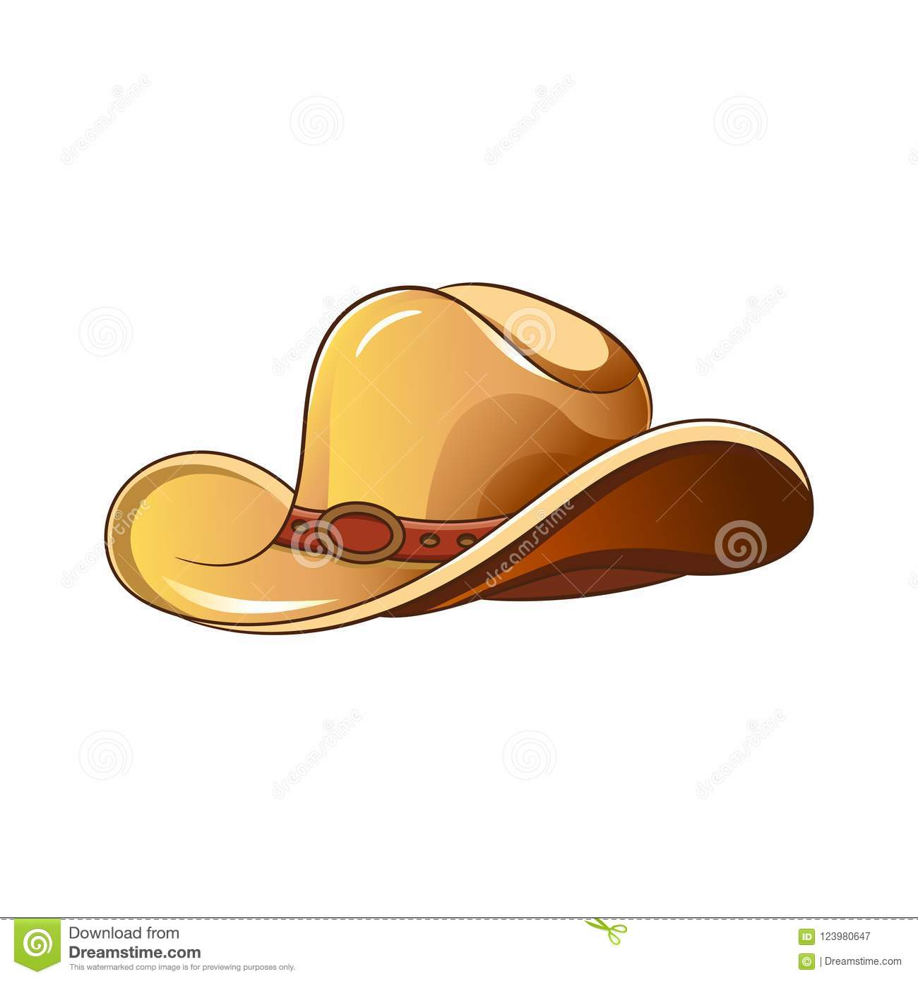 01b640ec6da Set of elements of the Wild West. The equipment of cowboys. Cowboy hat.