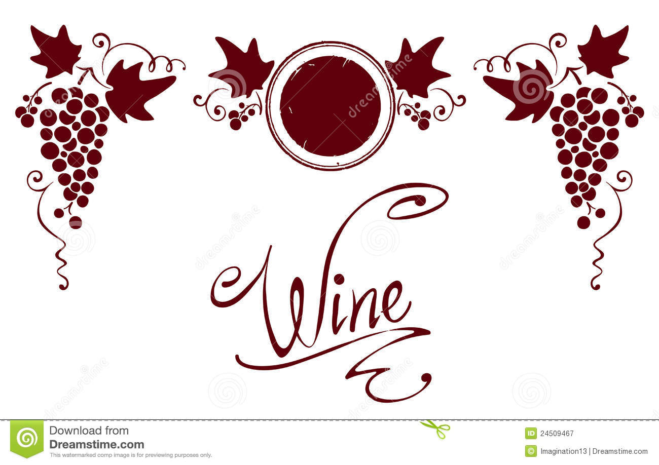 set of elements for a wine label royalty free stock photography