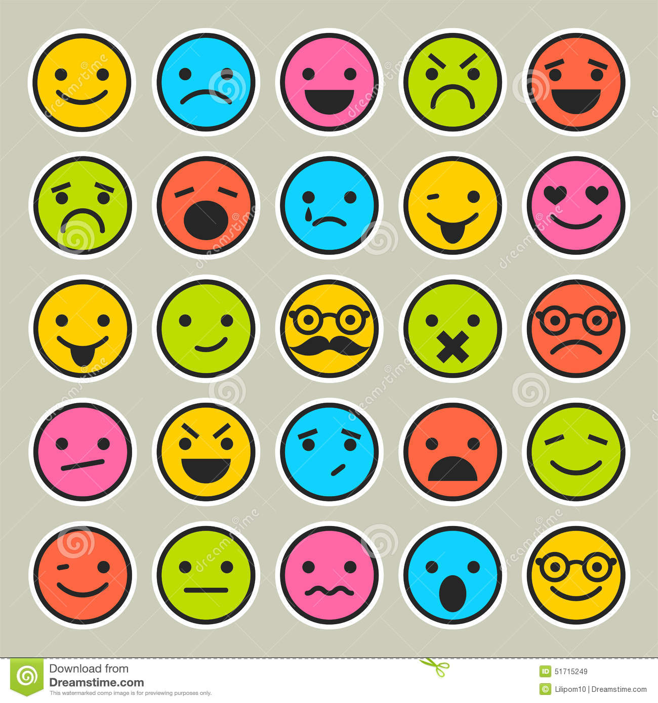 Set of emoticons faces icons for design stock vector set of emoticons faces icons for design buycottarizona Images