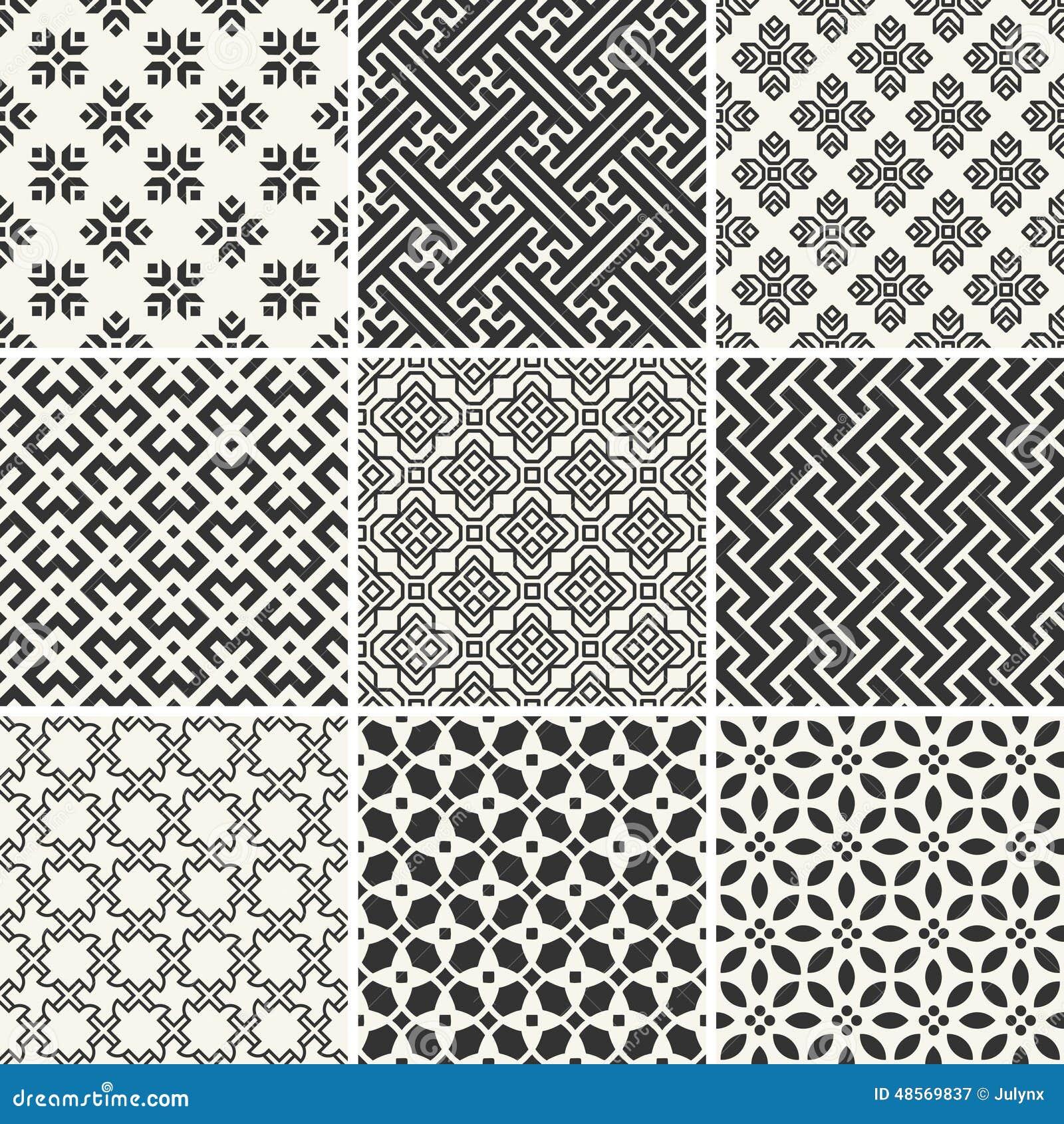 Designs Patterns Using Geometric Shapes