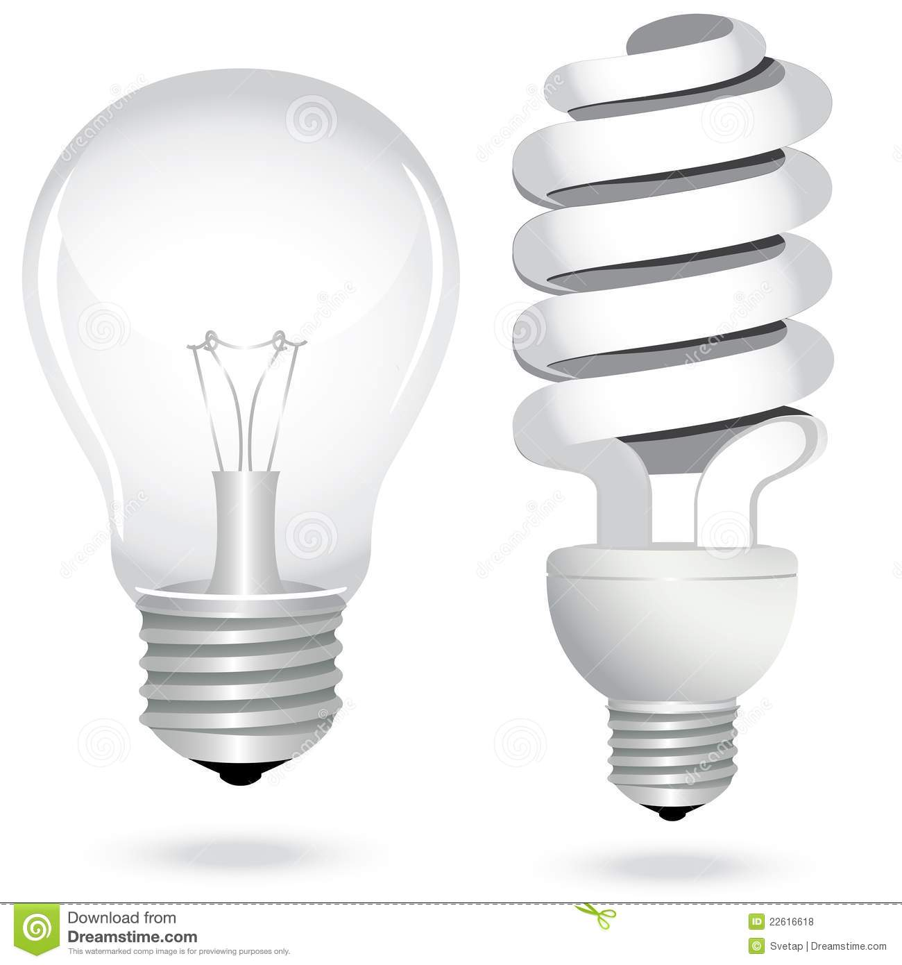 Set Energy Saving Light Bulb Lamp Electricity Stock Vector Illustration Of Glass Illuminated
