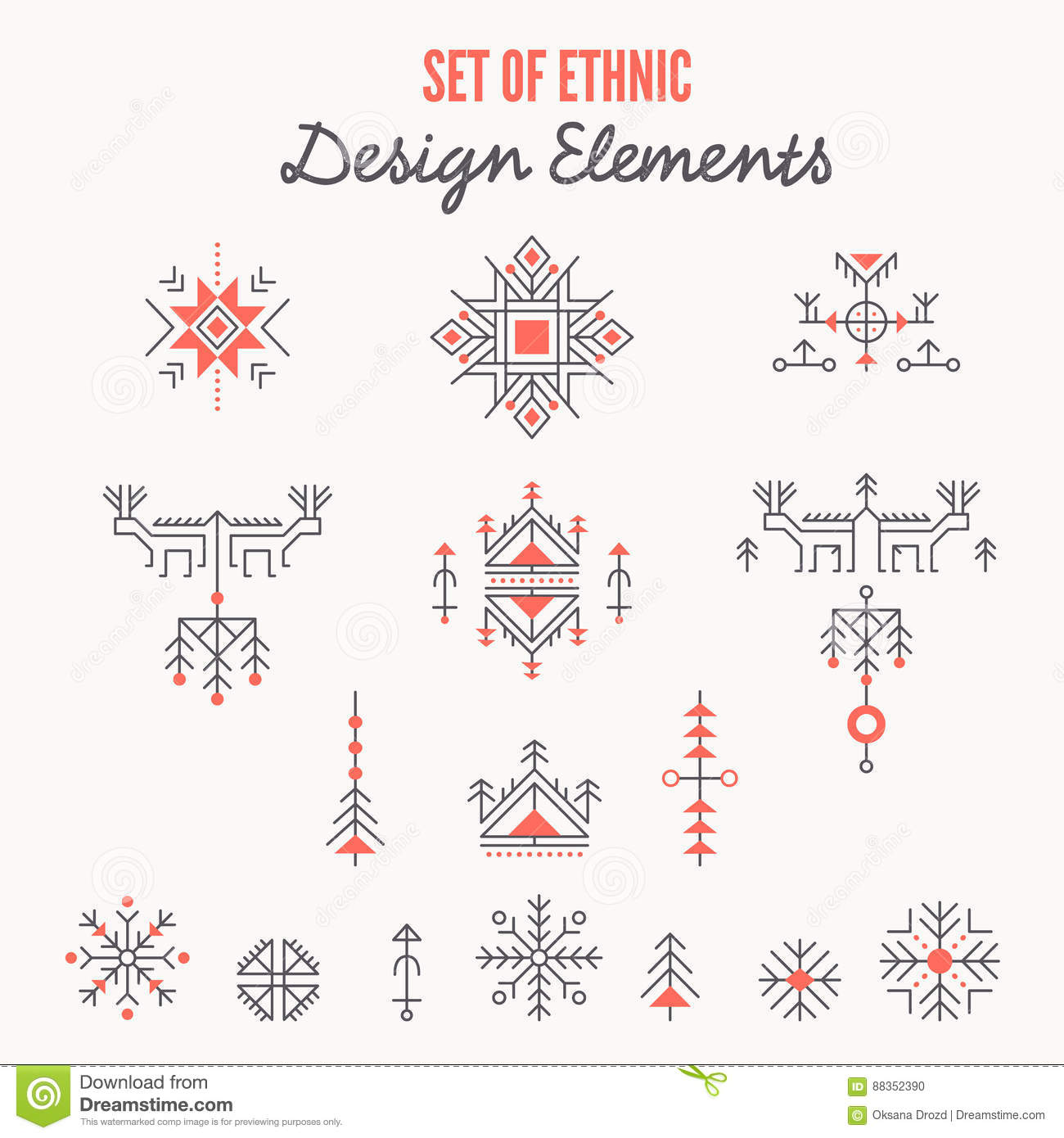 Set of ethnic design elements logo templates line style ancient set of ethnic design elements logo templates line style ancient symbols buycottarizona