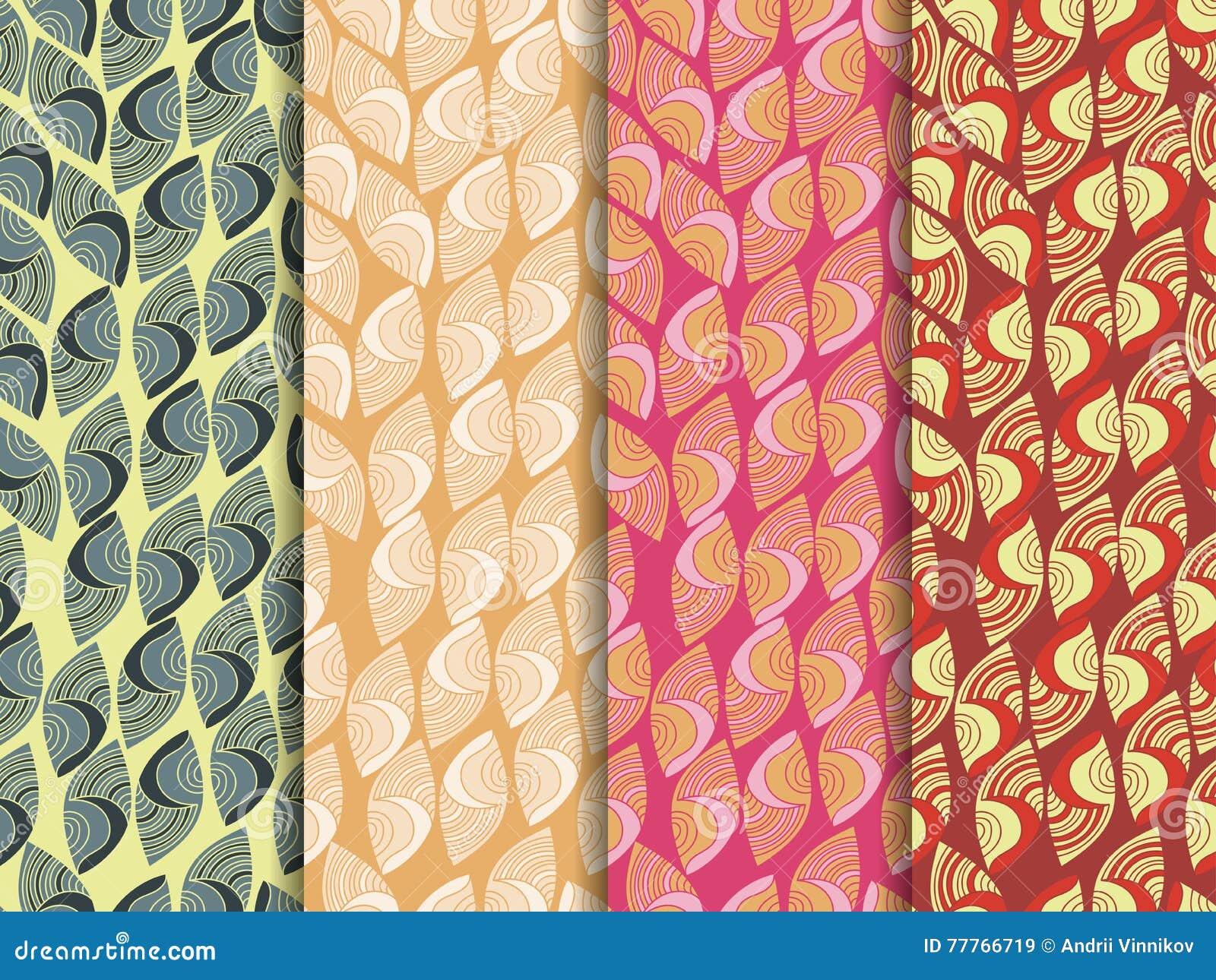 Set Of Ethnic Seamless Patterns Indian Seamless Pattern