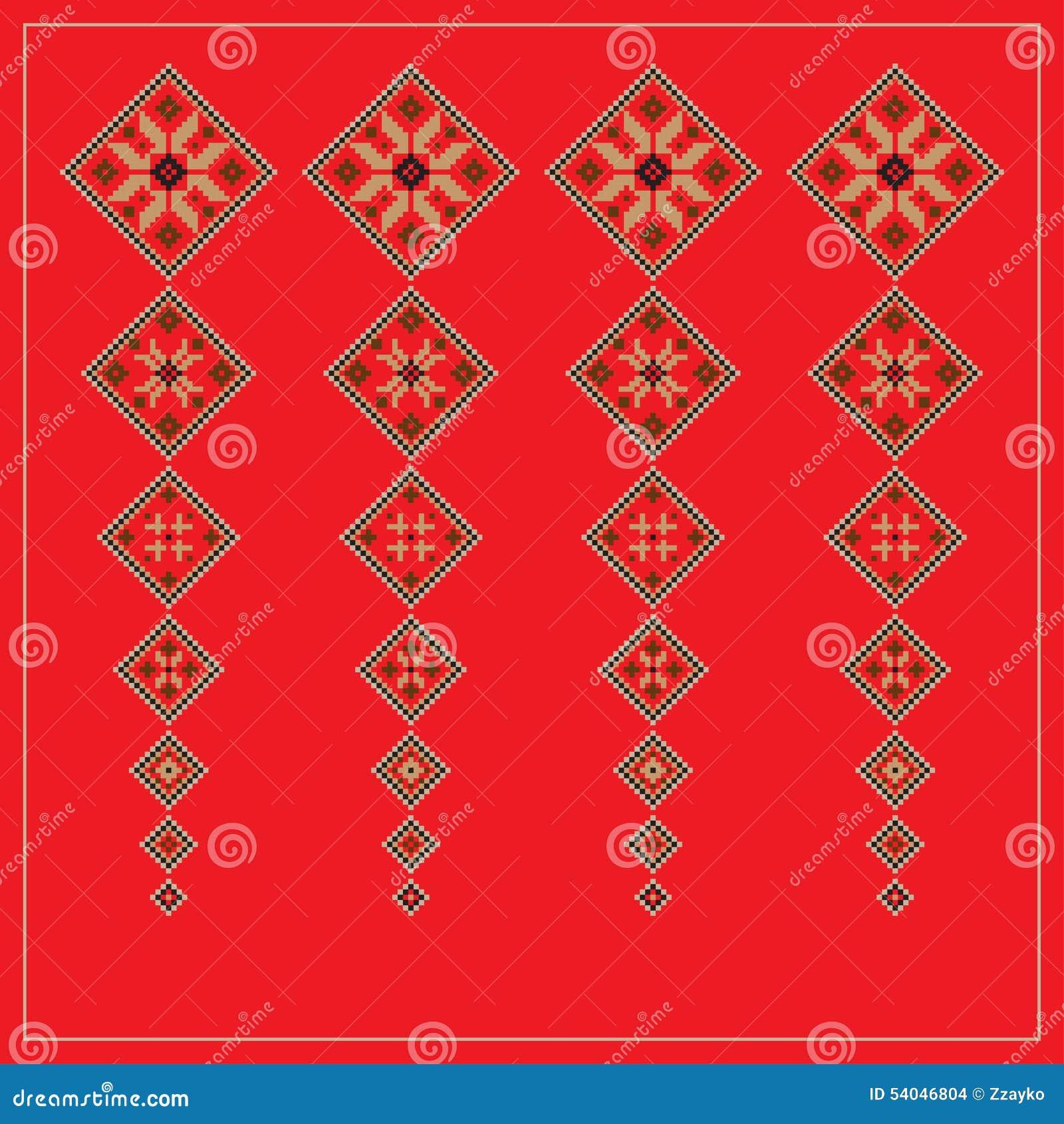 Set Etniczny ornamentu wzór w różnych kolorach również zwrócić corel ilustracji wektora