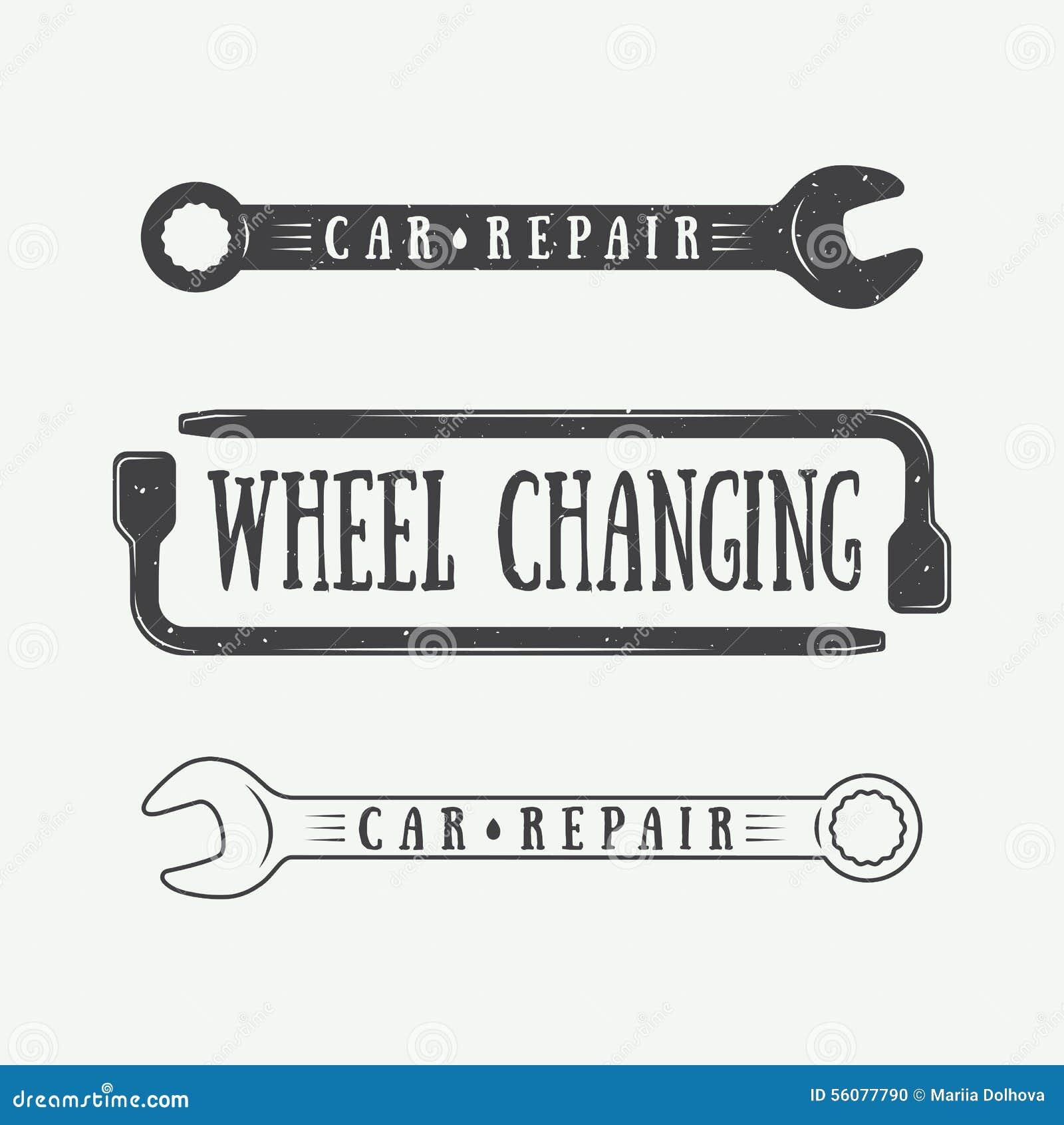 Set etykietki, emblematy i logo rocznika mechanika i ciesielki,