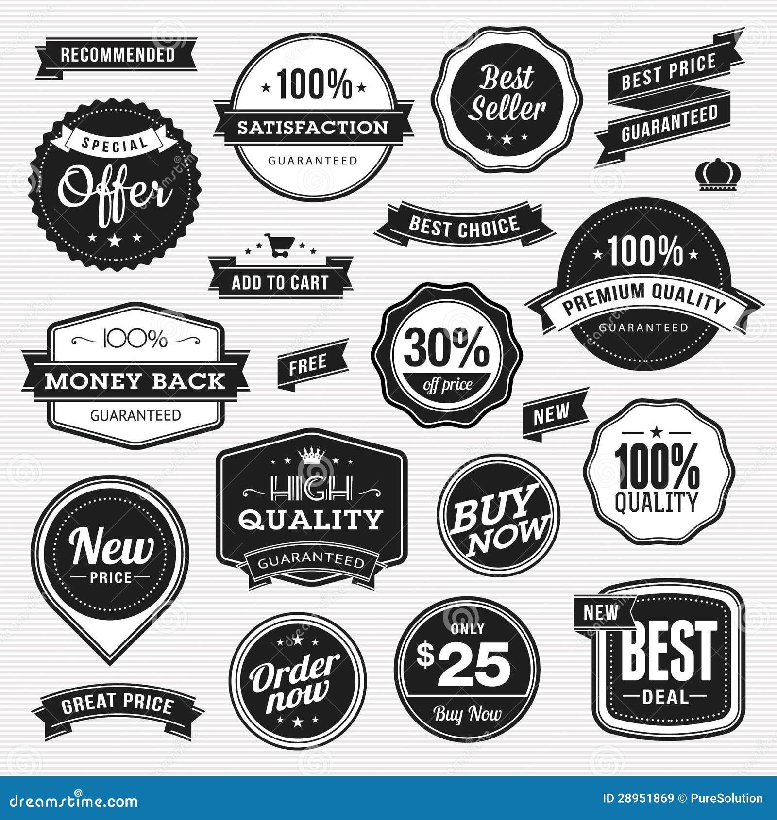 Set etykietki i faborki dla sprzedaży