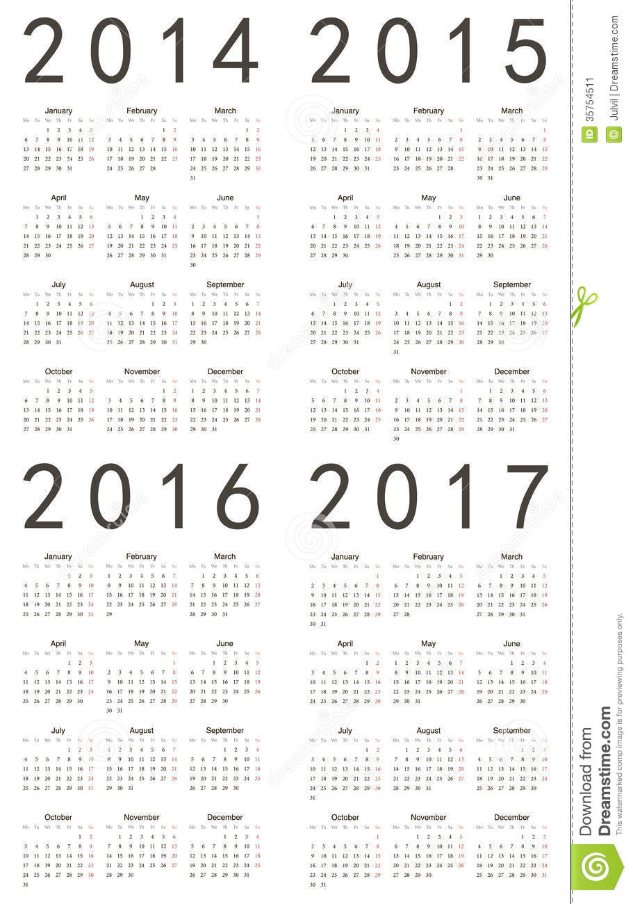 October Calendar 2017 Start Monday - September …