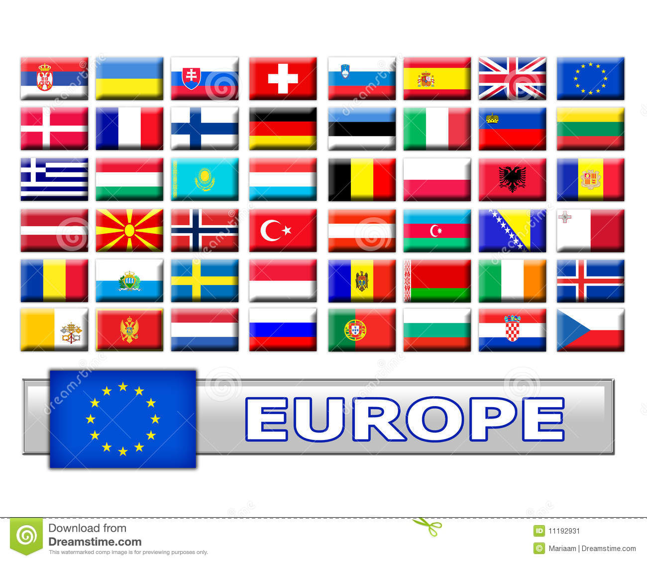 European Country Flags Stock Photography - Image: 31059042