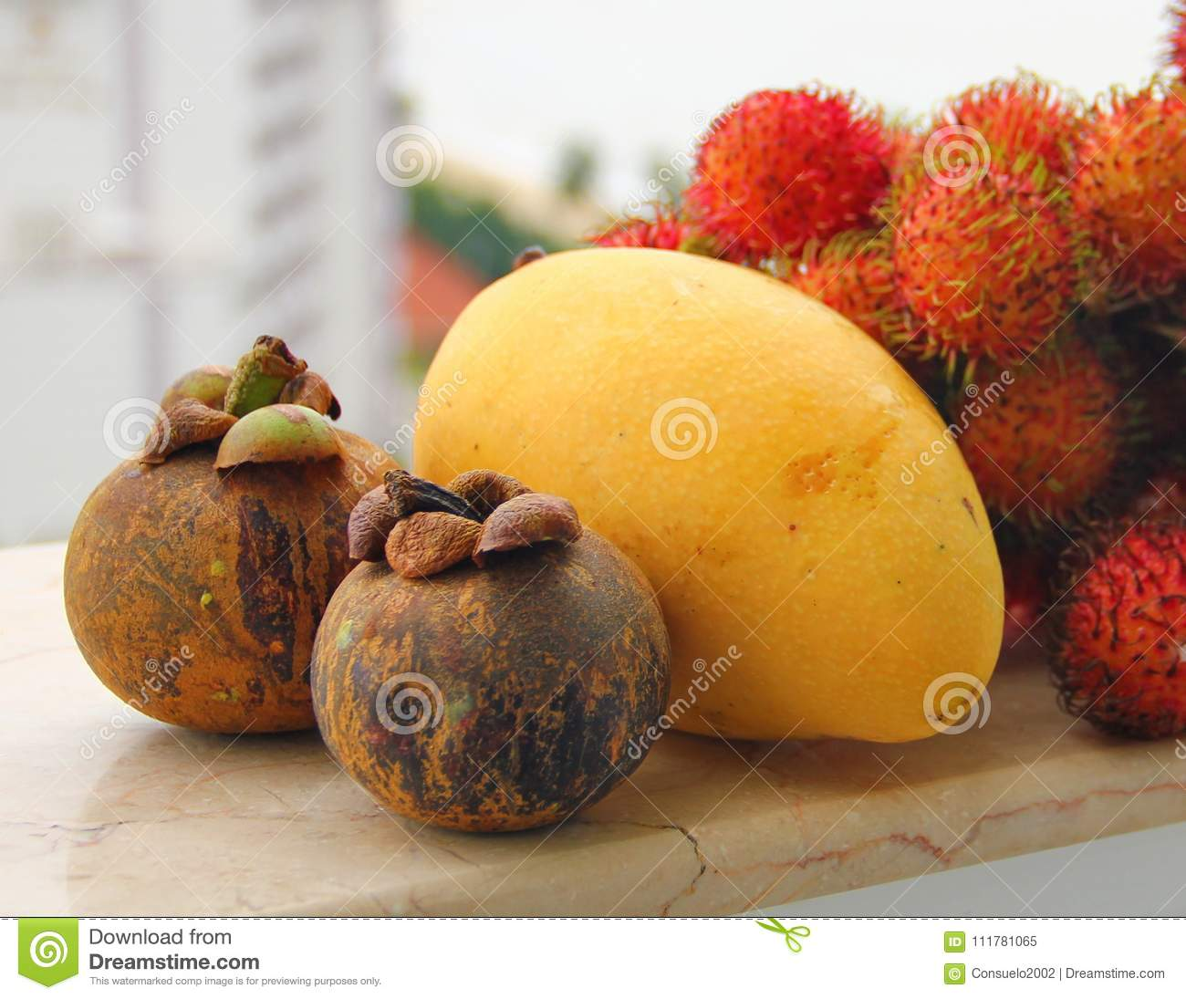 set of exotic fruits stock image. image of fruits, juices - 111781065