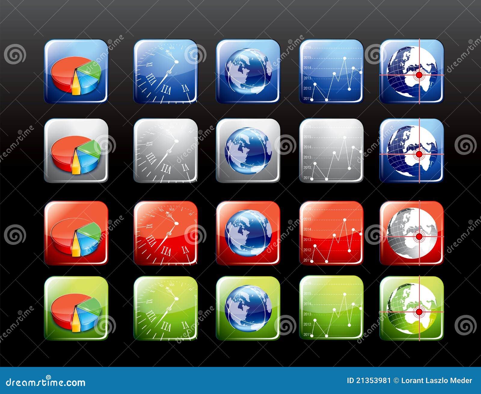 Set för applikationsymbolsmobil