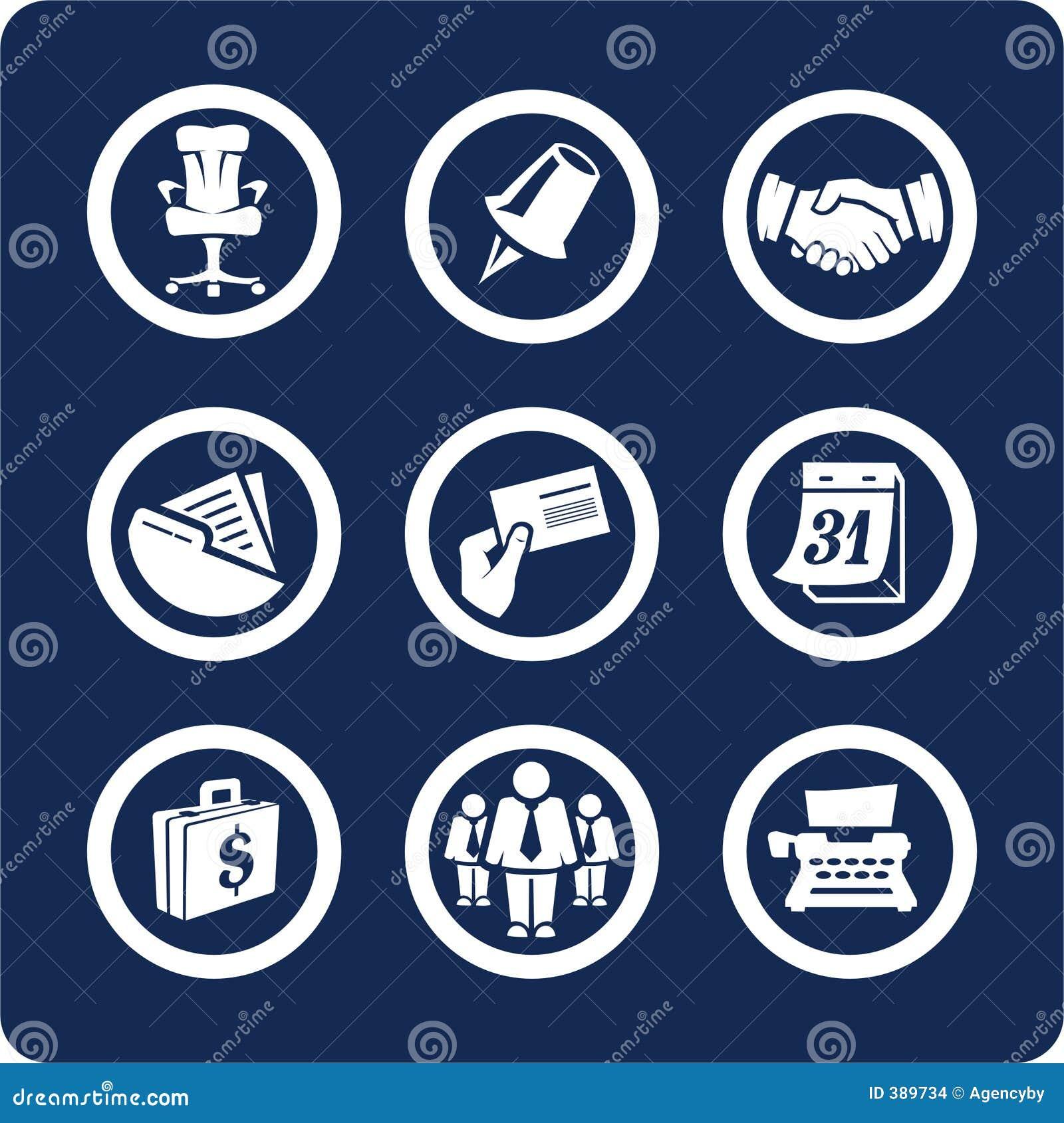 Set för del för kontor för 2 5 affärssymboler