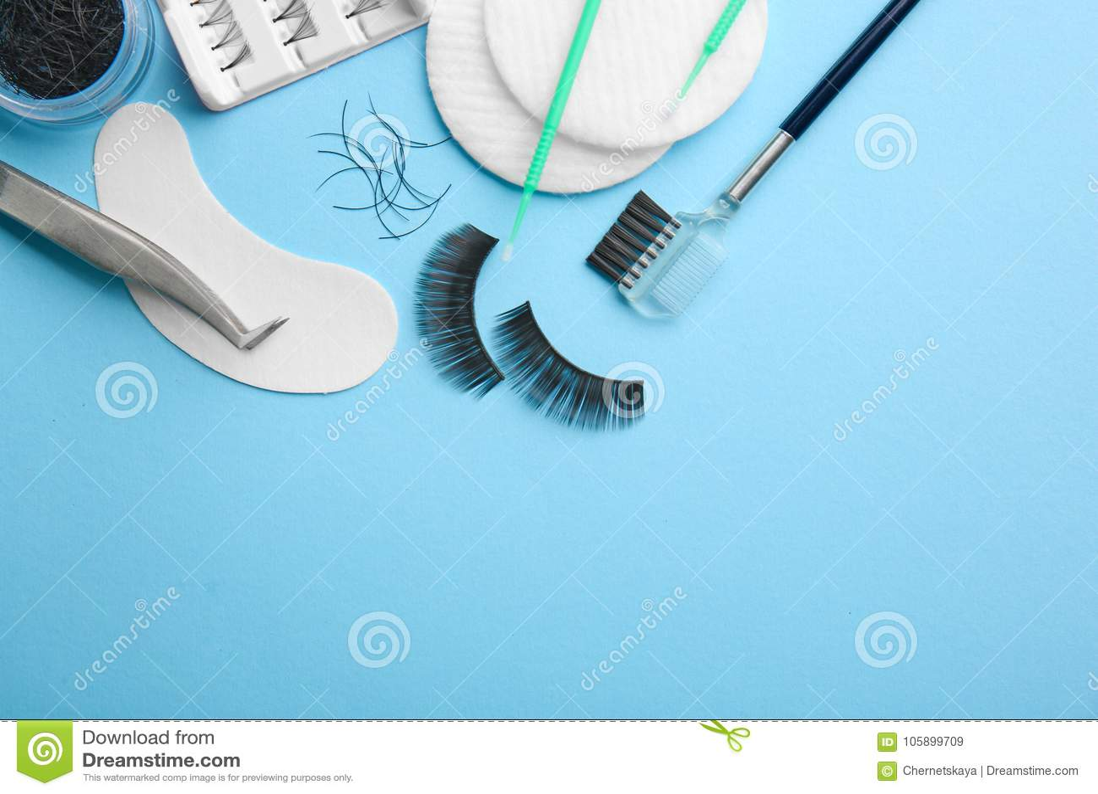 49c73d73d26 Set with false eyelashes stock image. Image of apply - 105899709