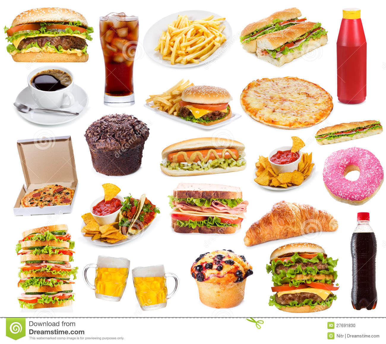 Fast Food Equipment Photos : Set With Fast Food Products Stock Photo - Image: 27691830