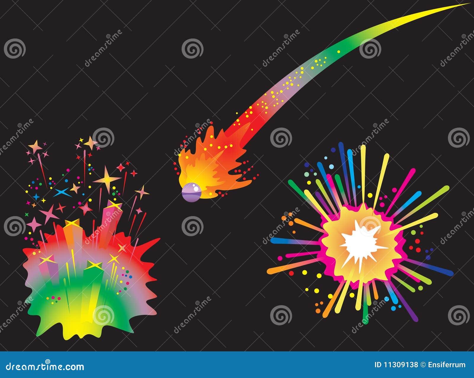 Set Feiertagsfeuerwerke