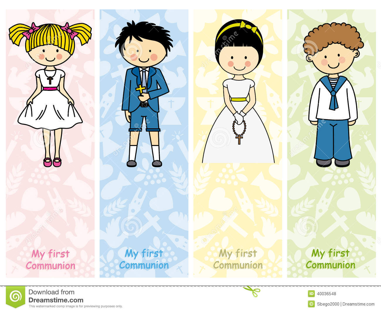 set first communion stock vector illustration of confirmation