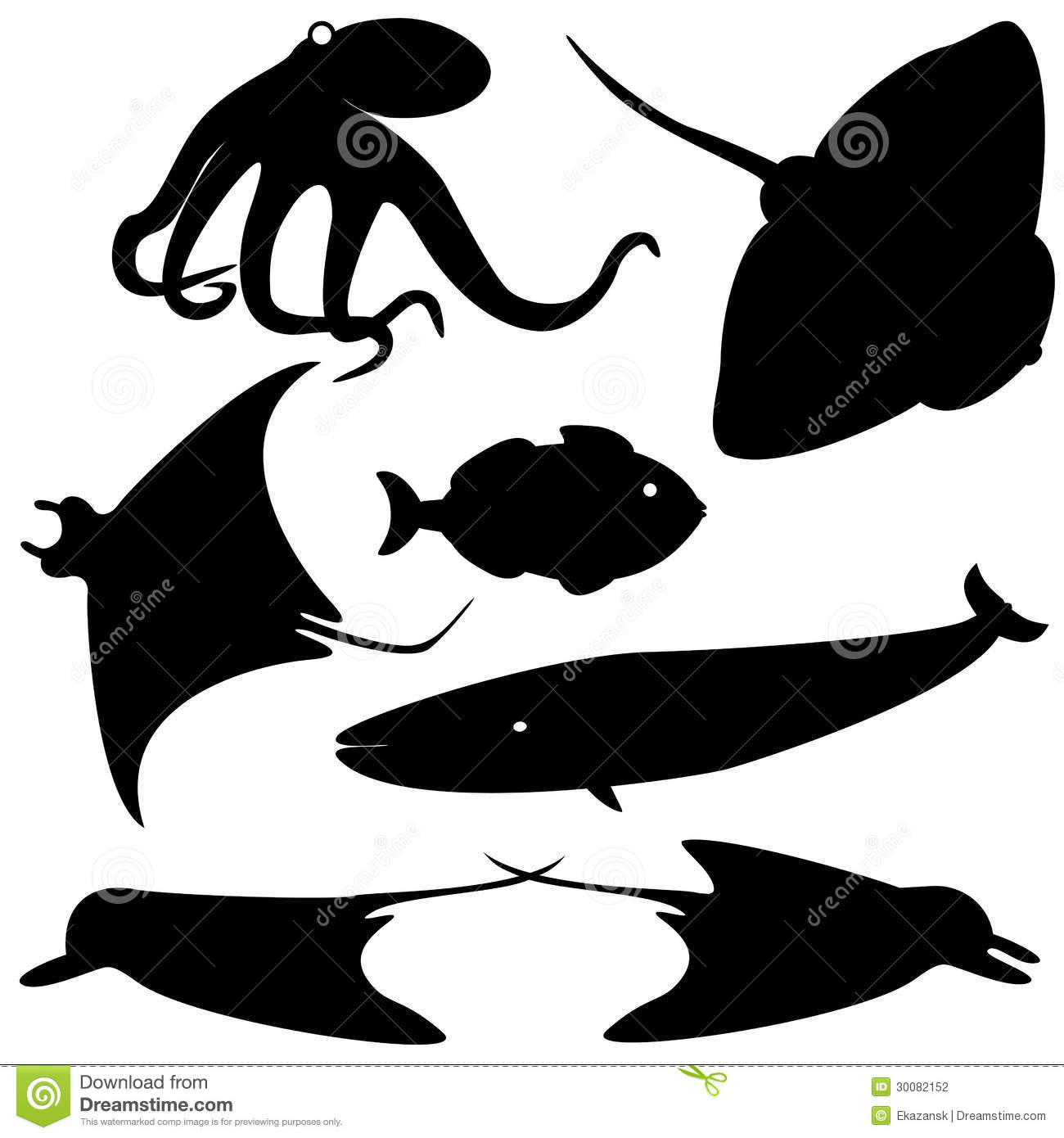 Tropical Fish Silhouette